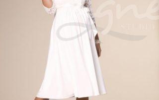 těhotenské svatební šaty Lucia krátké