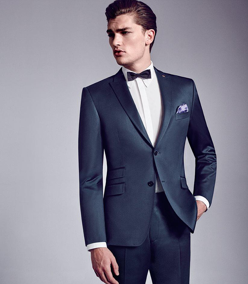 panský oblek modrý - studioagnes