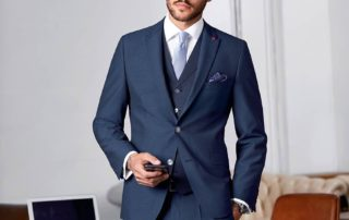 pánský oblek modrý - studioagnes
