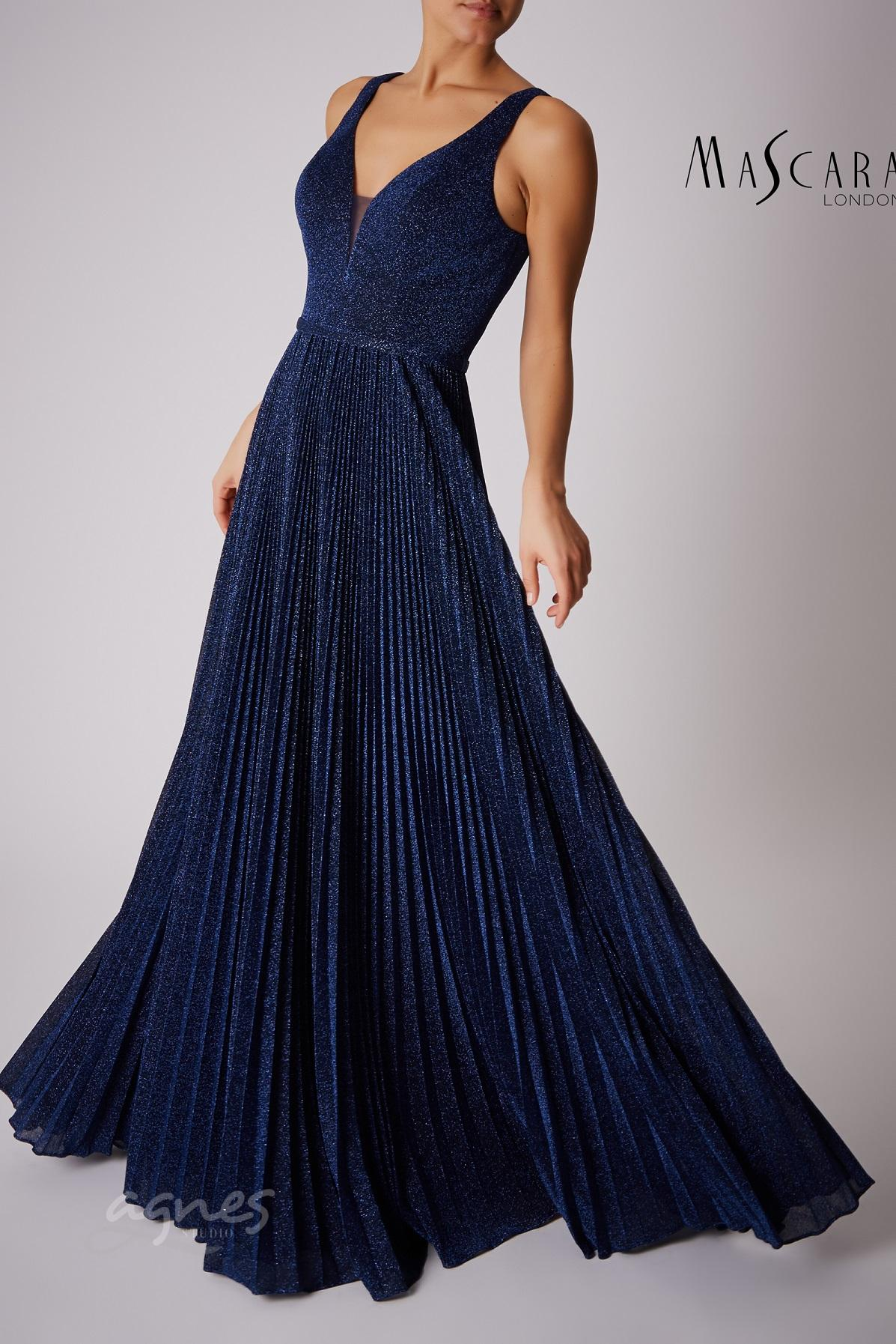 společenské šaty dlouhé modré