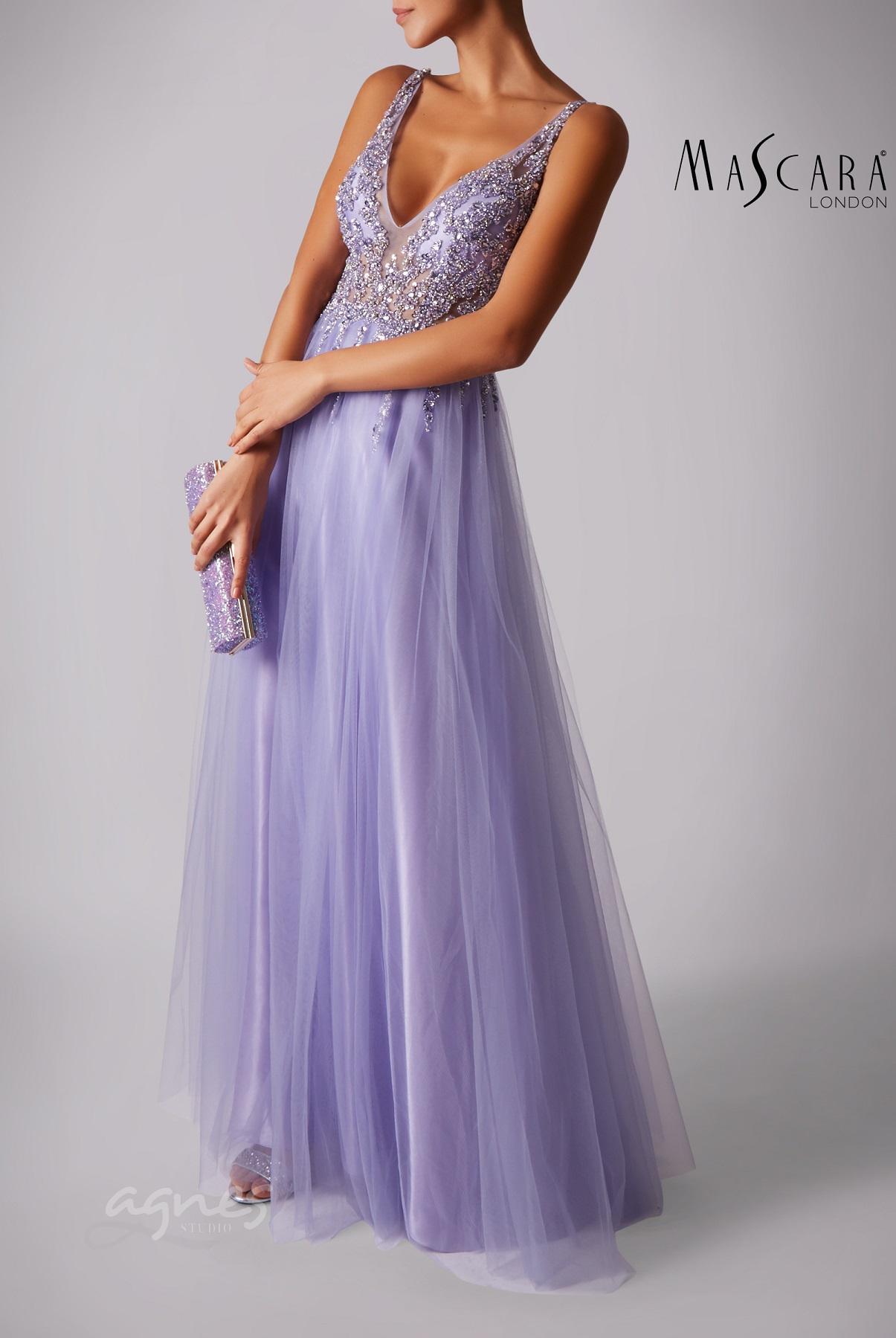 plesové šaty fialové