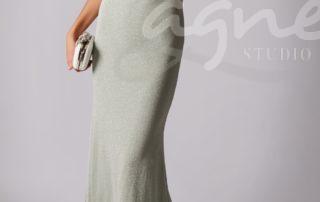 společenské šaty Mascara MC186041 sage mátová