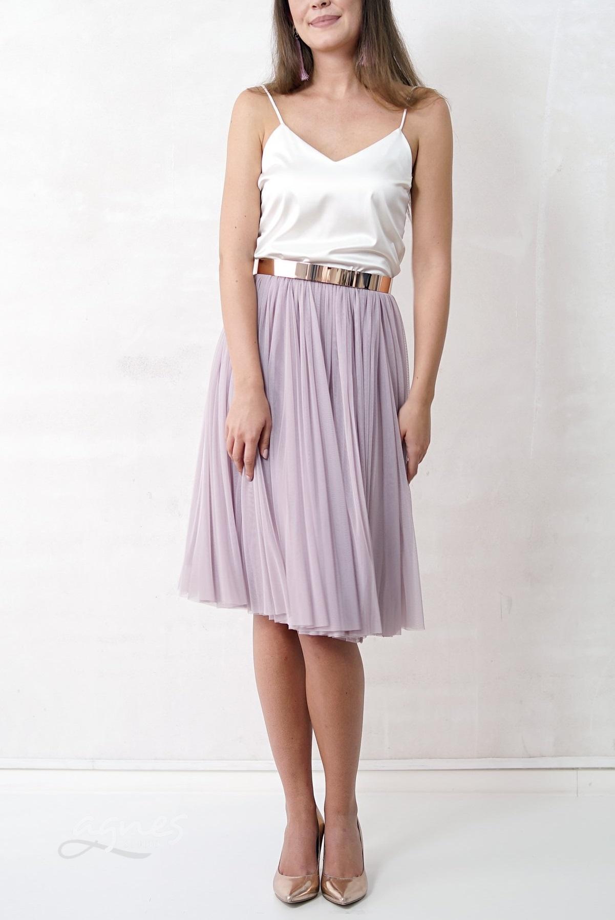 tylová sukně pastelová