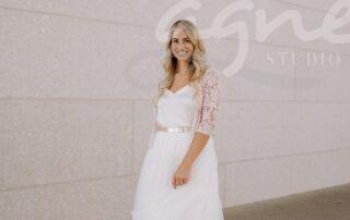 svatební smetanový top a tylová sukně